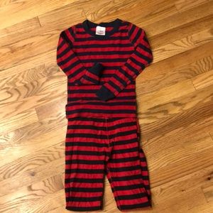 Hanna Anderson red and blue striped pjs